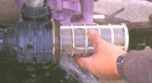 Figura 11. Filtro a la entrada de la bomba