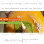 Nueva web para la Gestión integrada de plagas y enfermedades en Caqui